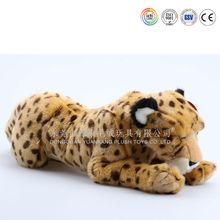 Plush soft toy tiger pillow