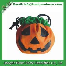 Grimace Face Halloween Promotion Gift Pumpkin Shaped Folding Bag