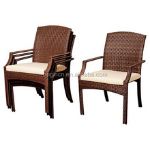 backyard courtyard furniture stackable rattan garden chair and types of dining tables designs