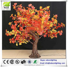 มาถึงใหม่ที่นำต้นไม้ไฟกลางแจ้งไฟต้นเมเปิ้ลเทียมผลิตภัณฑ์เมเปิ้ลต้นไม้