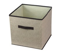 Non-woven fabric storage box with handle, line like