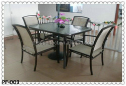 coffee shop 4 person dining table and chair outdoor furniture set