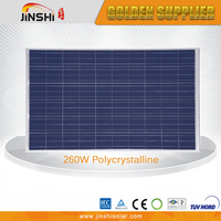 TUV Certificated Competitive Price 260w Poly Amorphous Solar Panel Price