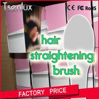 Plastic lcd digit easy clean ceramic hair brush salon ceramic hair brush for girl