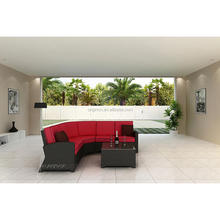 Promotional premium quality semi circle sectional rattan sofa set picture