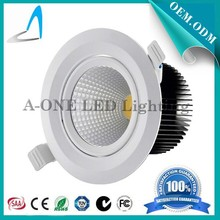 CRI 80 led cob downlight 18W 3 years warranty from dongguan factory