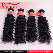Can be dyed Brazilian virgin hair Deep Curly Wholesale human hair extension Top quality weave ponytail