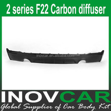 2 Series F22 carbon fiber rear lip spoiler diffuser for bmw f22 rear diffuser