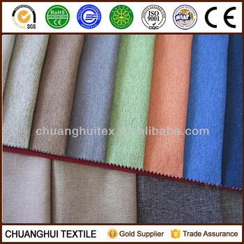 2015 New Item 100% polyester Yarn Dyed faux linen fabric
