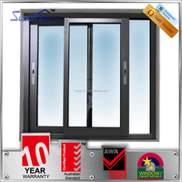 Double pane Australian standard modern house and office design aluminum sliding window