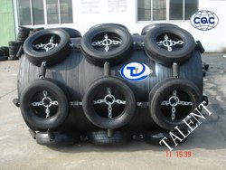 large inflation type floating quayside rubber fender
