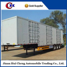 2015 best quality 2/3 /4 Axle ,box semi trailer,semi-trailer van for transportation semi trailer factory cell 86-15271357675