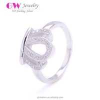 Silver 925 Jewelry Ring Mold Crown Shaped Ring