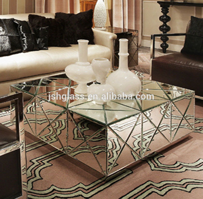 table basse celestine en miroir achat vente table table. Black Bedroom Furniture Sets. Home Design Ideas