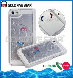 Factory Popular strong packing 3d liquid phone case for iphone 6 case