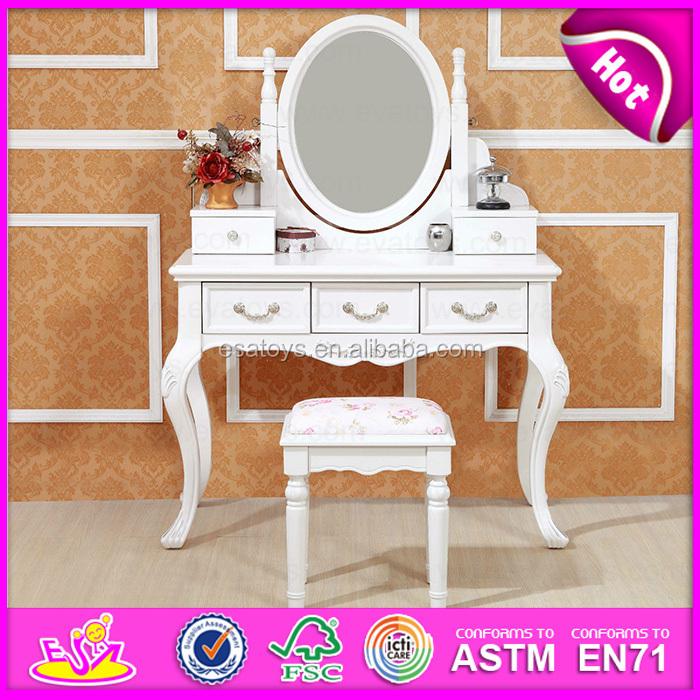 gros moins cher en bois coiffeuse avec miroir et tabouret w08h017 commode id de produit. Black Bedroom Furniture Sets. Home Design Ideas