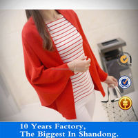 solid color 100% cotton sweater designs for young ladies