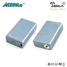 Tesla Two box mod / tesla mod vape with 4.2 V Maximum output voltage , 2 pcs batteries in parallel