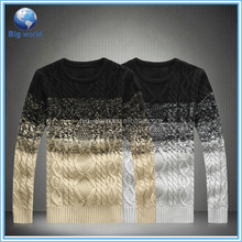 Fashion men sweater hot sale round neck pullover sweater latest aran sweater/men's pullover sweatshirt