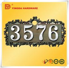 Aleación de Zinc decorativo marco de la flor en el puerto / marco de la puerta / 4 número de placa de la puerta YD-589