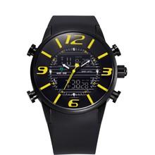 WEIDE Unique Design Fashion Men Sports Full Steel Military Army Diver PU Strap Watch