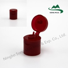 Plastic Screw Cover for Bottle and flip top cap with non spill