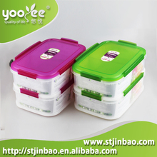 BPA Free 2 Compartments Food Storage Container with Divider, Fresh Food Container