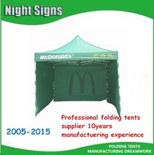 3x3m Pop up canopy printed tent/ McDonald's advertising gazebo/Exhibition tent
