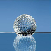 Promotion K9 Crystal Golf Ball Paperweight For Golf Sports Souvenirs