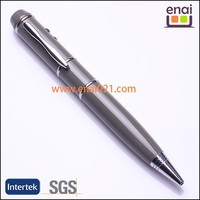 promotional gift cheap promo USB flash drive twist ball pen with laser pointer and LED light