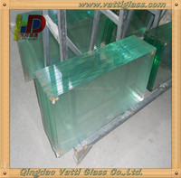 Hot Selling Products 6mm - 10mm Thick Clear Standard Size Tempered Glass Price For Tempered Glass Shower Wall Panels
