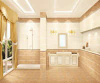 High gloss finished solid color ceramic wall tile for bathroom