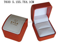 High Quality Leatherette Paper Packing Plastic Jewelry Ring Gift Box on Sale T633