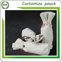 Hongway Customize logo burlap bag, gift jute pouchs /linen pouch / burlap pouch