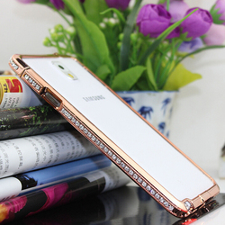 Factory wholesale diamond mobile phone border mobile phone cases for Samsung galaxy s5