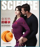 Couples Heated Thermal Underwear Thick Double Layer Merino Wool Polartec Thermal Underwear Knee Support Thermo Underwear