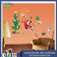 High Quality Christmas Ornament Decor Winter Waterproof Christmas Wall Sticker Santa Claus Christmas Window Sticker