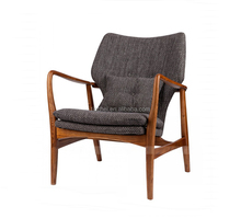 armrest wooden rest chair wood lounge chair T28