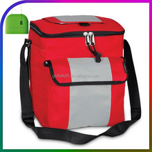 Freezable Fitness Lunch Bag 9 Can Soft Thermal Picnic Cooler With Hard Liner