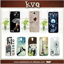 Printing Case Cover For Lenovo S820 Soft TPU Rubber Gel Tower Girl Rose Tower Skull Love