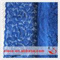 atacado amostra de tecidos rendas vestido de noite azul laço de organza do bordado tecido laço