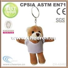 Cheap plush teddy bear key chain, custom plush key chain, promotional plush key ring