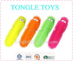 Big kid toy 55 cm fluffy caterpillar puffer ball novelty flashing puffer toy