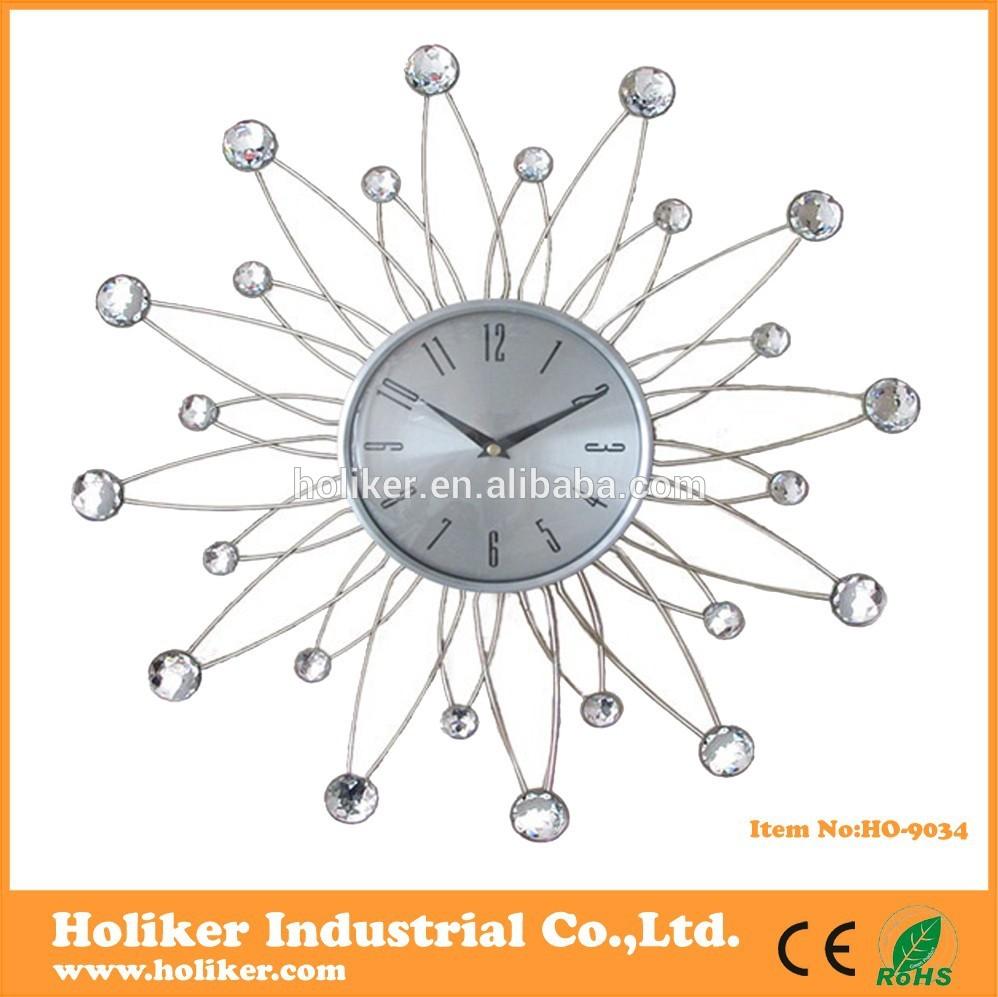 metal horloge murale d corative avec boules acryliques