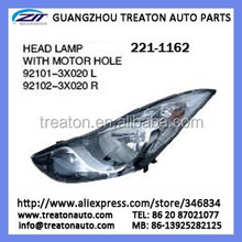 HEAD LAMP WITH MOTOR HOLE 92101-3X020/ 92102--3020 221-1162 FOR ELANTRA 2011 OK