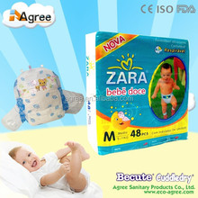 2015 Nice ultra absorbant sleepy baby diaper with elastic velcro tape manufacturer in China