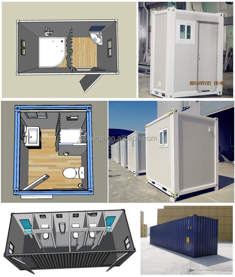Affordable container public restroom with light weight - Shipping container public bathroom ...