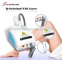 Q-Switch Nd YAG Laser tattooed removal and pigmentation system