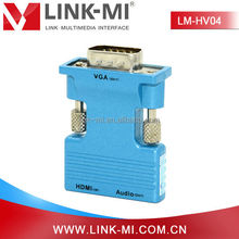 Link-mi LM-HV04 hdmi 2 vga converter digital to analog adapter box with 3.5 audio RCA cable