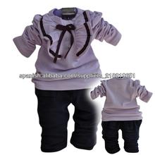conjunto de 2014 bastante dos piezas ropa para niña bebé HD01